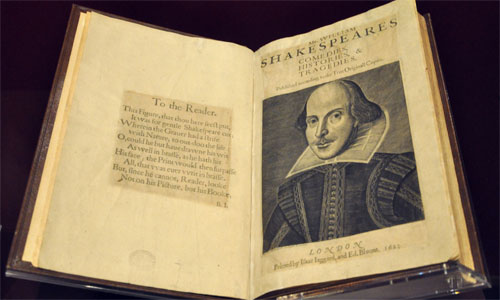 William Shakespeare's First Folio Day – January 4