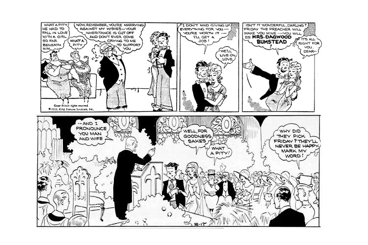 Blondie  Marries Dagwood February 17, 1933