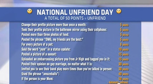 Happy National Unfriend Day!